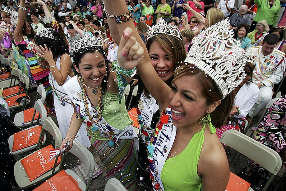 Files kept by the Institute of Texan Cultures point to the use of cascarones in modern mating rituals throughout Mexico and the Southwest. In the rituals, boys crush cascarones on girls' heads to indicate their interest. The more confetti a girl collects in her hair, the story goes, the more obvious her popularity. / SAN ANTONIO EXPRESS-NEWS