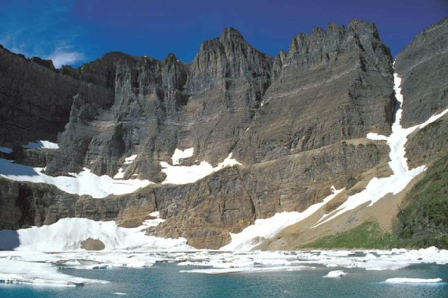 Iceberg Lake at Glacier National Park. Scientists on Wednesday, April 7, 2010, said that Glacier National Park has lost two more of its namesake moving icefields to climate change, which is shrinking the rivers of ice until they grind to a halt.