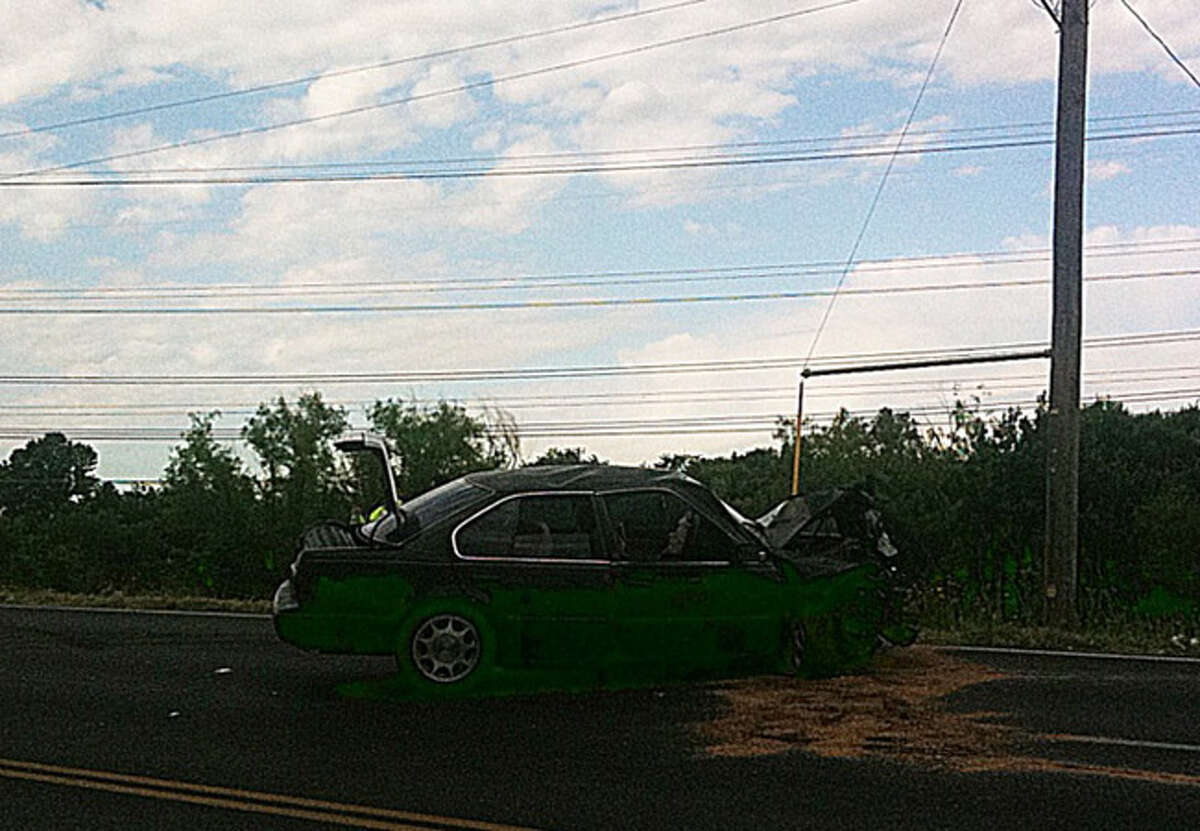 Sgt. Tony Zayas with the San Antonio Police Department said a teen driving a black sedan lost control while speeding west on O'Connor Road near Weidner Road around 7:20 a.m.