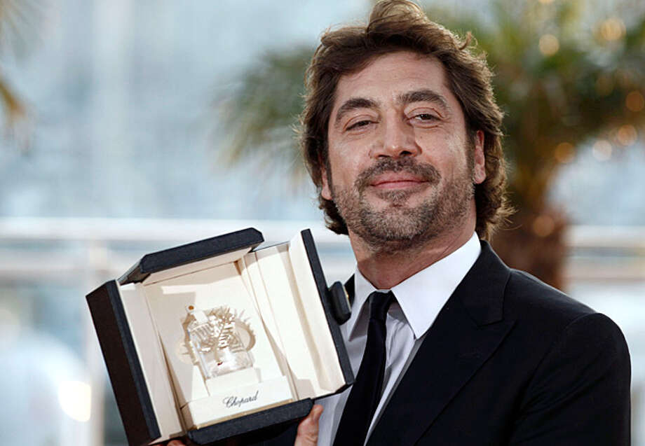Actor Javier Bardem with the joint award for Best Actor poses after the awards ceremony at the 63rd international film festival, in Cannes, southern France.
