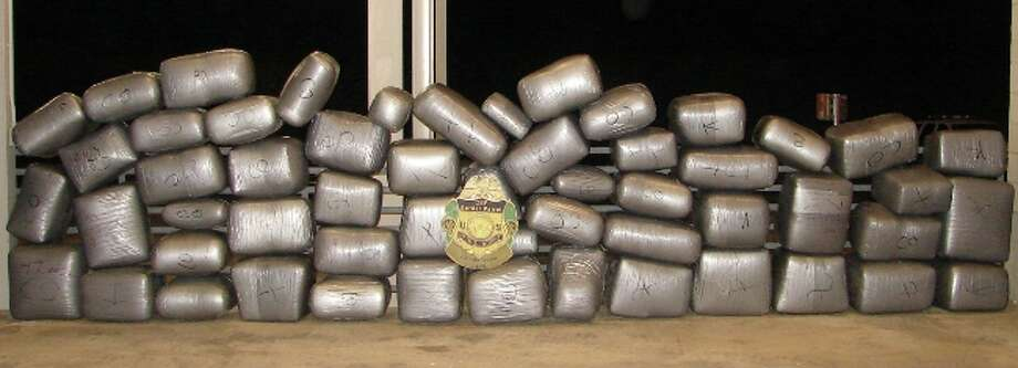 Agents seized more than a ton of marijuana at the Interstate 35 checkpoint north of Laredo.