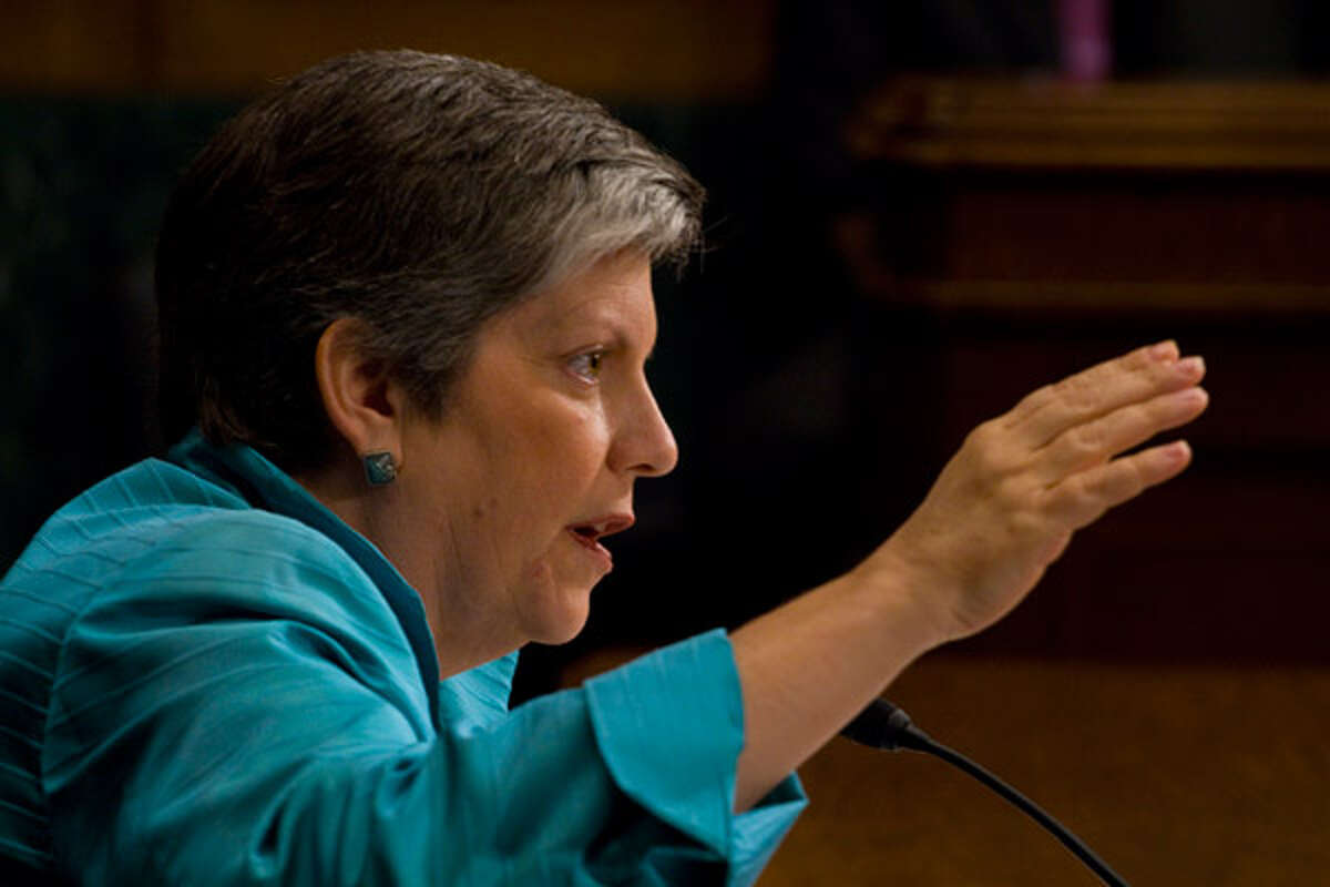 Homeland Security Secretary Janet Napolitano told a U.S. Senate hearing that the Obama administration has deep concerns about Arizona's immigration enforcement action and that a Justice Department review is under way to determine the law's constitutionality.
