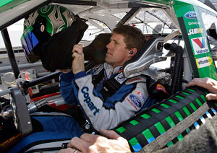 Carl Edwards, preparing to practice for today's Food City 500, intentionally wrecked Brad Keselowski two weeks ago.