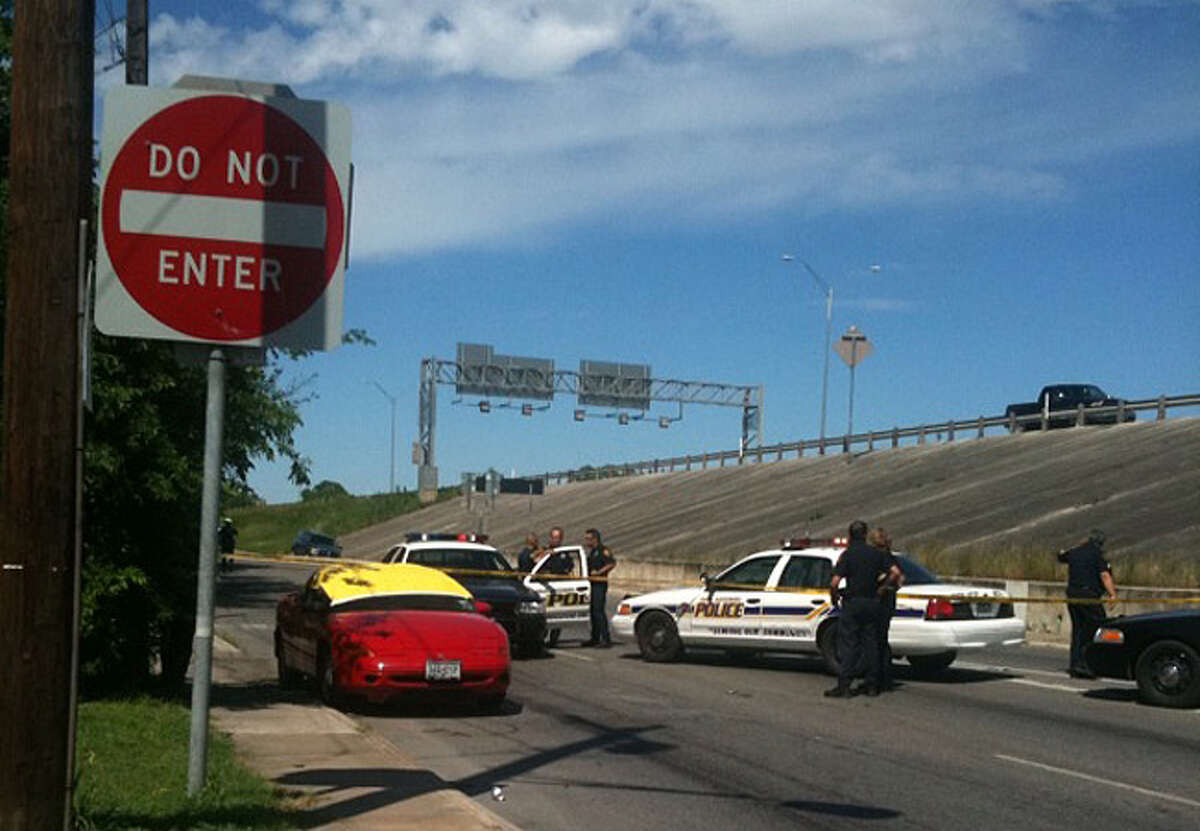 A motorist driving on the Interstate 10 East access road saw a flash and heard a gunshot around 11 a.m., said Sgt. Daniel Gonzales.