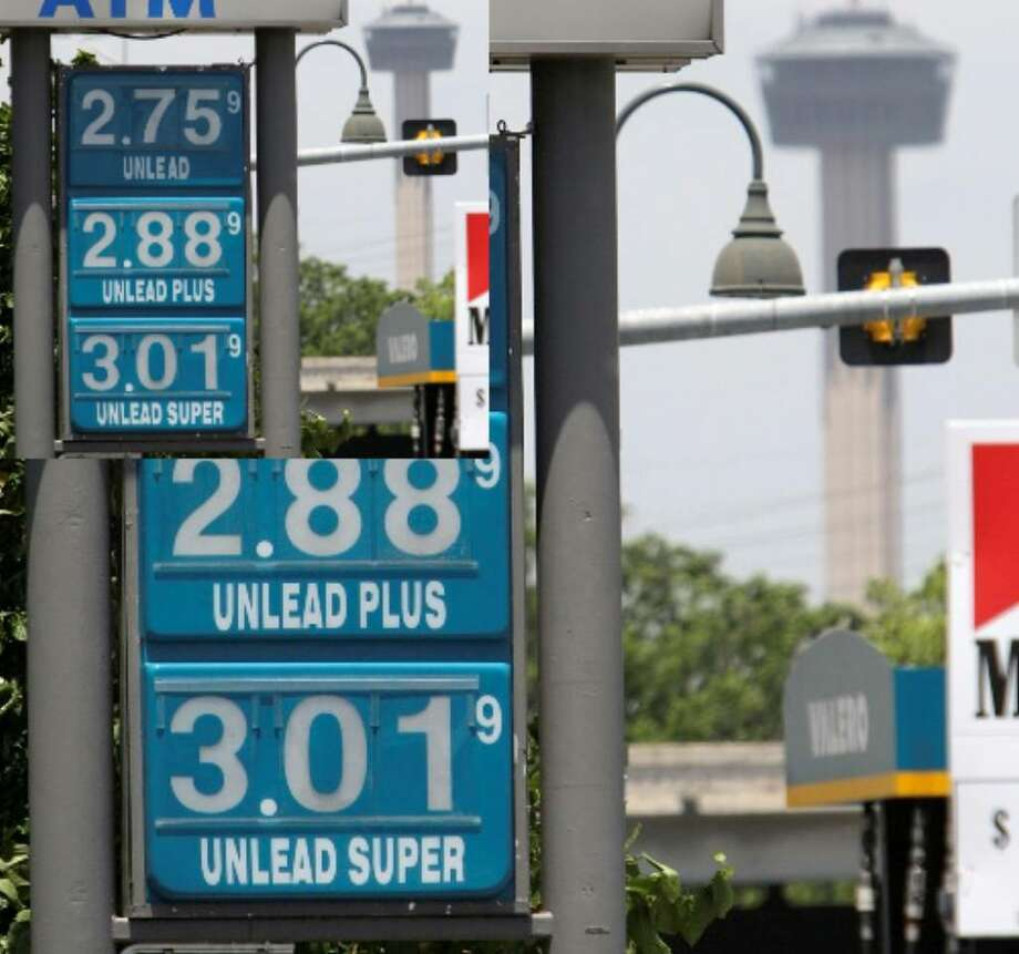 One expert believes gas prices will remain steady throughout the summer. Seen here are prices at a West Military Drive filing station, Wednesday, May 12.