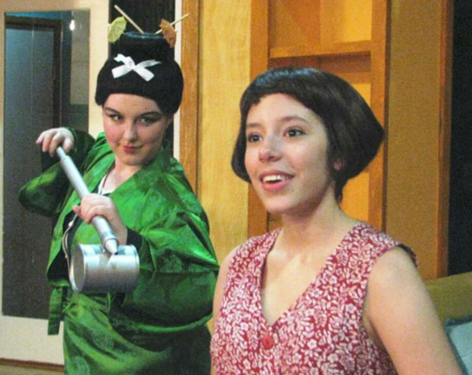 """Mia Aguirre (left) and Mariela Flor Olivo star in San Pedro Playhouse's youth-troupe production, """"Thoroughly Modern Millie Junior."""""""