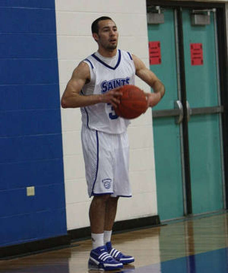 Our Lady of the Lake's Eddie Ortiz looks for an inbound pass during a recent game.
