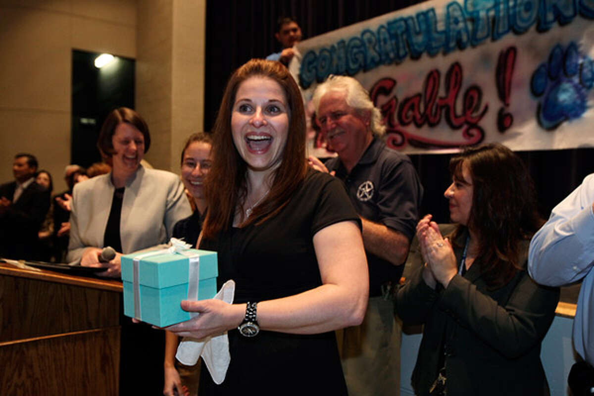 South San High School theater arts teacher Jill Gable is the first South San ISD winner in the 29-year history of the Trinity Prize for Excellence in Education.
