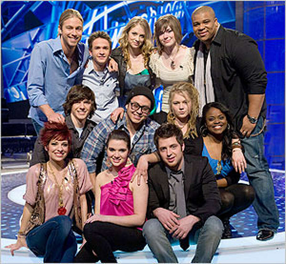 The finalists include, bottom row, from left, Lacey Brown, Katie Stevens and Lee Dewyze. Middle row, from left, Tim Urban, Andrew Garcia, Crystal Bowersox and Paige Miles. Top row, from left, Casey James, Aaron Kelly, Didi Benami, Siobhan Magnus and Michael Lynche.