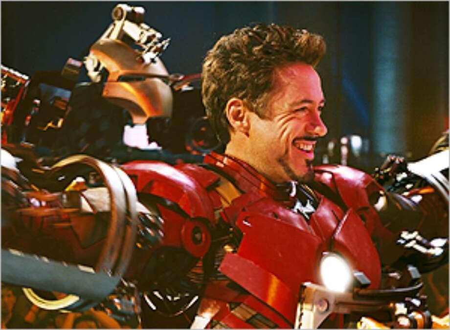 Robert Downey Jr. is back as billionaire industrialist Tony Stark in 'Iron Man 2.'