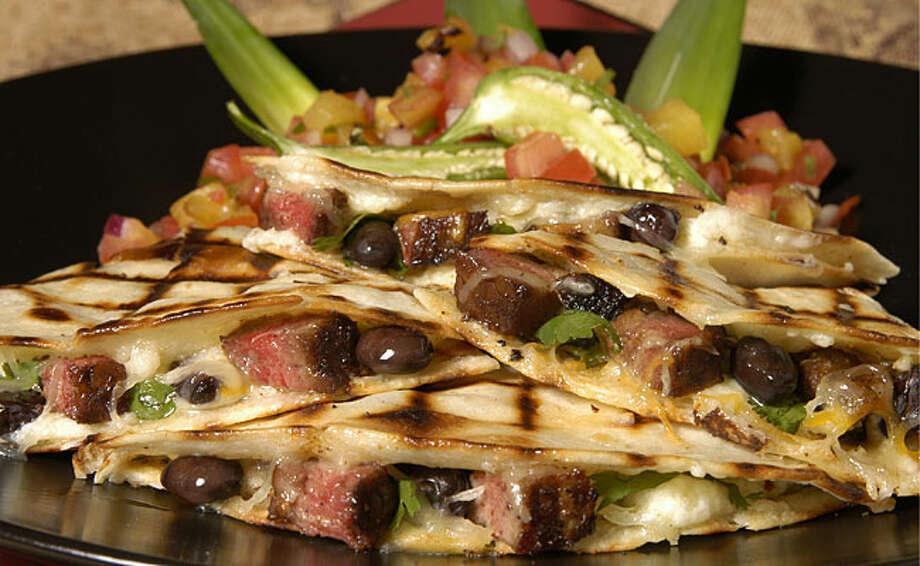 Beef quesadillas reflect north of the U.S. border tastes.