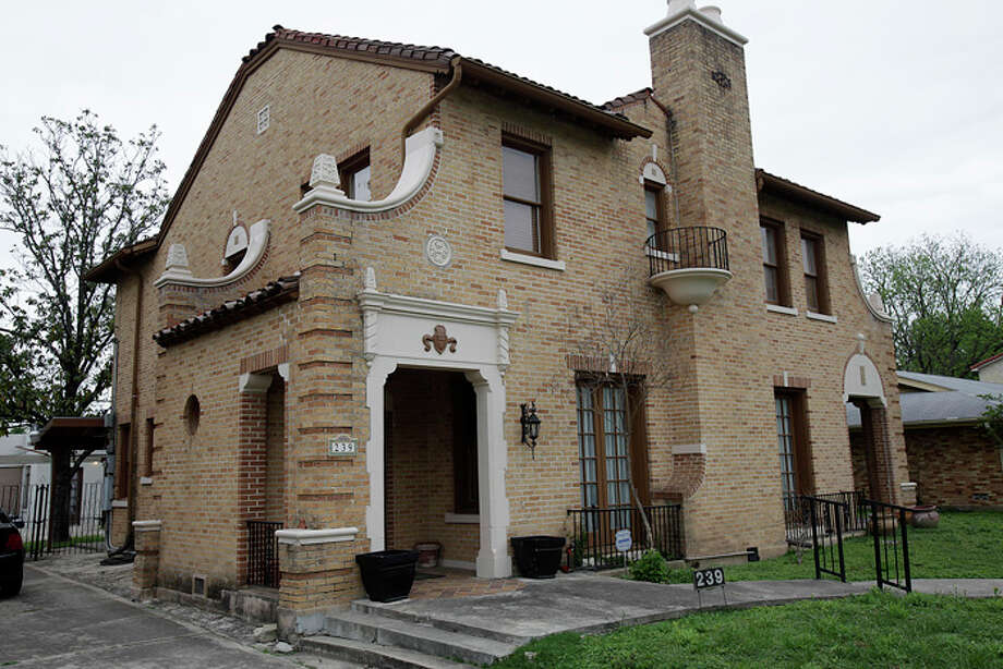 This two-story Monticello Park home owned by Carlos Lopez  will be featured on the 16th annual Fiesta Tour of Homes. / glara@express-news.net