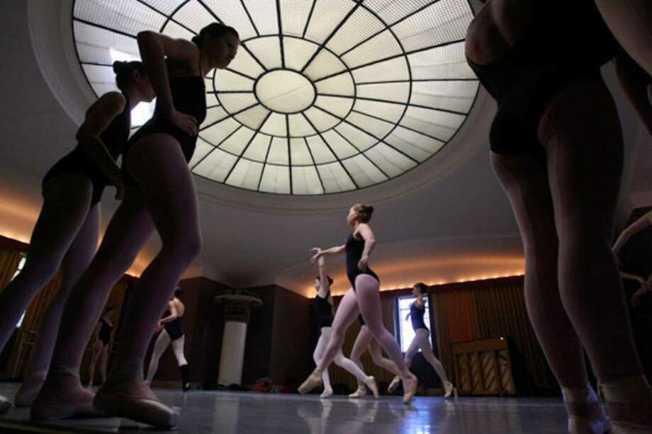 Ballet dancers take part in a class at Municipal Auditorium on Thursday. About 500 dancers representing ballet companies from Texas, Louisiana, Arkansas and Oklahoma are in San Antonio for the Regional Dance America/Southwest Festival 2010.