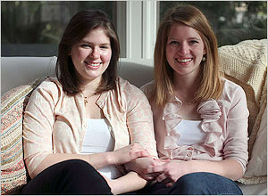 Sisters Sarah (left) and Ellen Browne both have Usher syndrome, a rare genetic disorder that can cause deafness and blindness.
