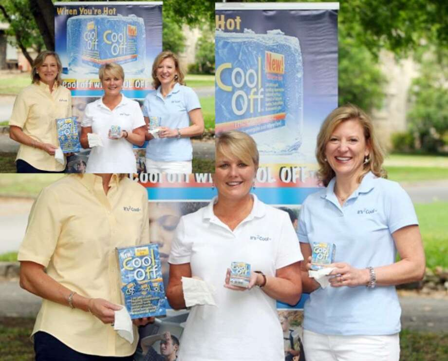 It's 2Cool Ltd. CEO Deb Bolner Prost (from left); friend Linda Caldwell, who is executive vice president of the company; and Prost's sister Beverly Bolner, in charge of quality control, are launching the new product.