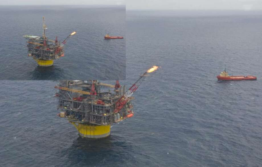 Shell's new Perdido oil and natural gas platform, located  200 miles off the coast of Texas in the Gulf of Mexico on Friday.