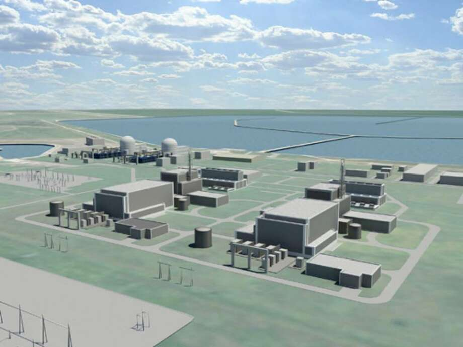 This computer rendering shows the planned expansion of the South Texas Project near Bay City.
