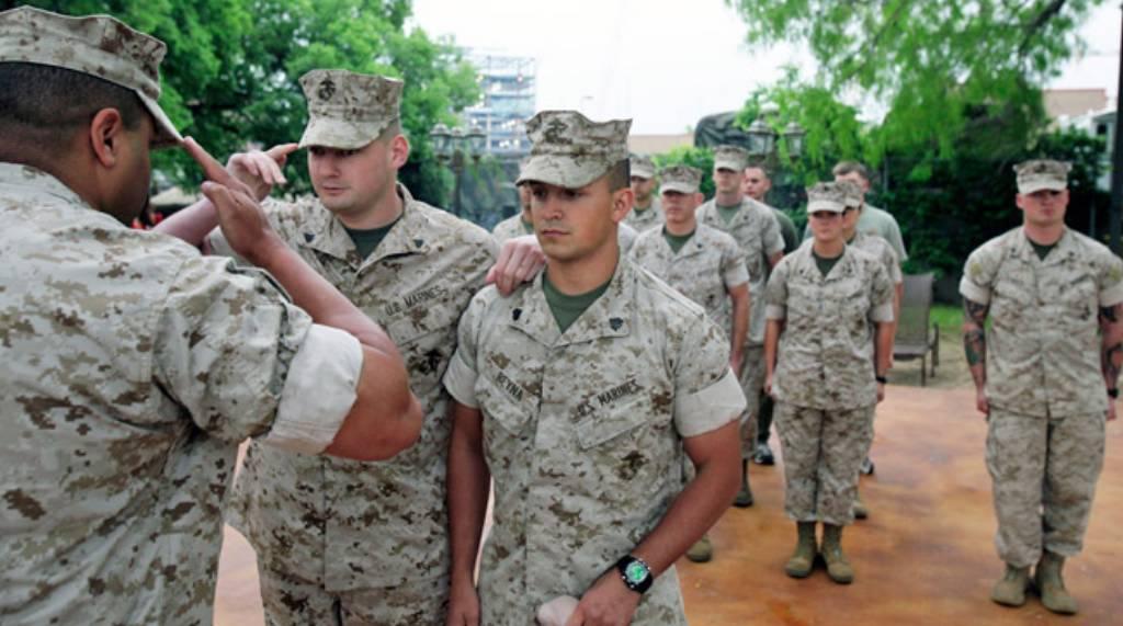 Blind Marine re-enlists - San Antonio Express-News