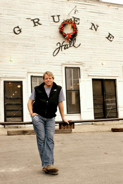 Pat Green in front of Gruene Hall.