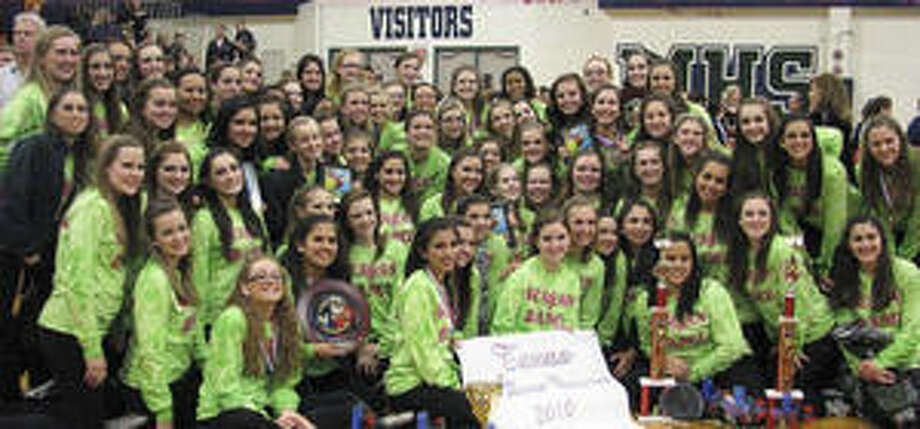 Reagan High School's Diamond Dancers and Silver Stars drill team (seen here) and Charmers pep squad claimed numerous awards in February competitions.