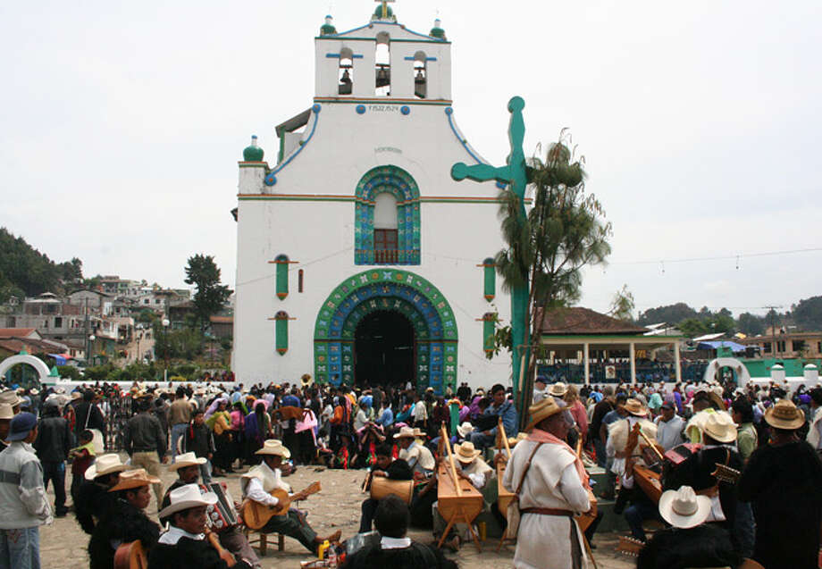 In the village of San Juan de Chamula, where Catholicism and traditional Mayan religions have blended, thousands gather for Easter processions. The celebration dates back to Middle Ages and includes fireworks, brass bands and a parade of saints.