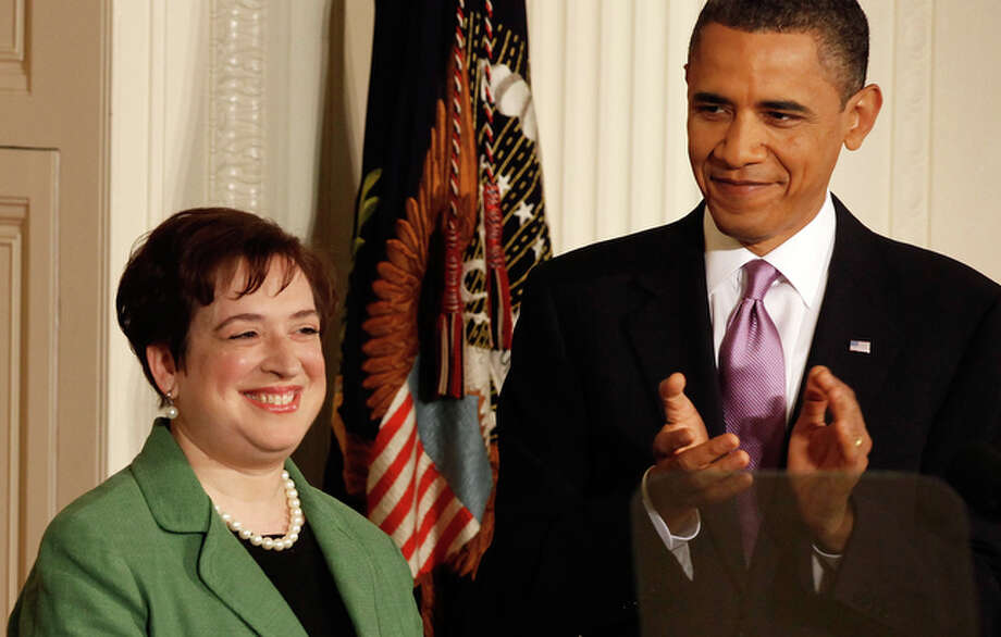"""President Barack Obama nominated Solicitor General Elena Kagan to the Supreme Court on Monday, declaring the former Harvard Law School dean """"one of the nation's foremost legal minds."""" She would be the court's youngest justice and give it three female members for the first time. / 2010 Getty Images"""