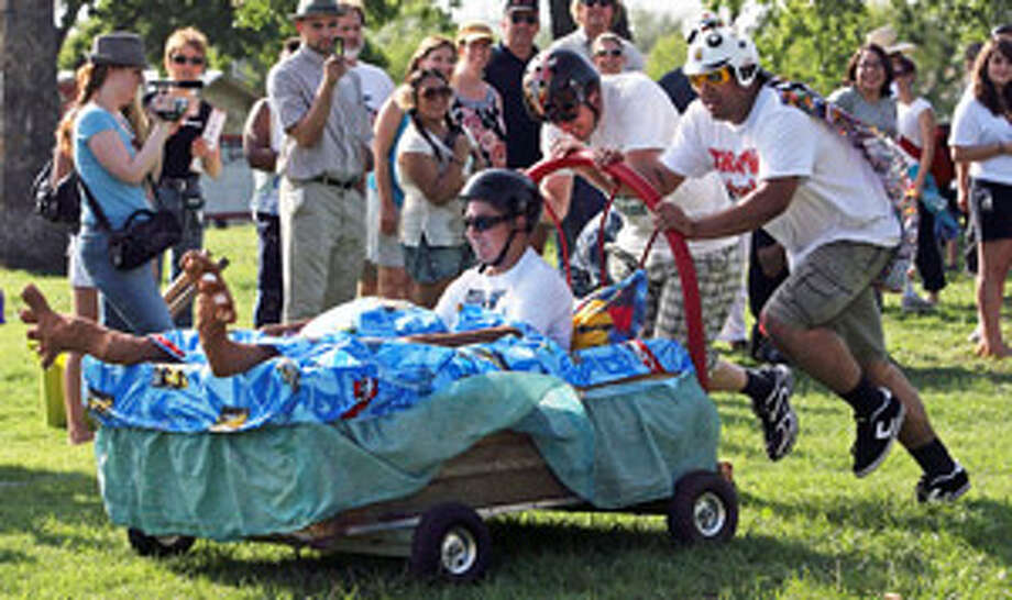 The Dignowity Hill Pushcart Derby is part of the city's observance of Contemporary Art Month.