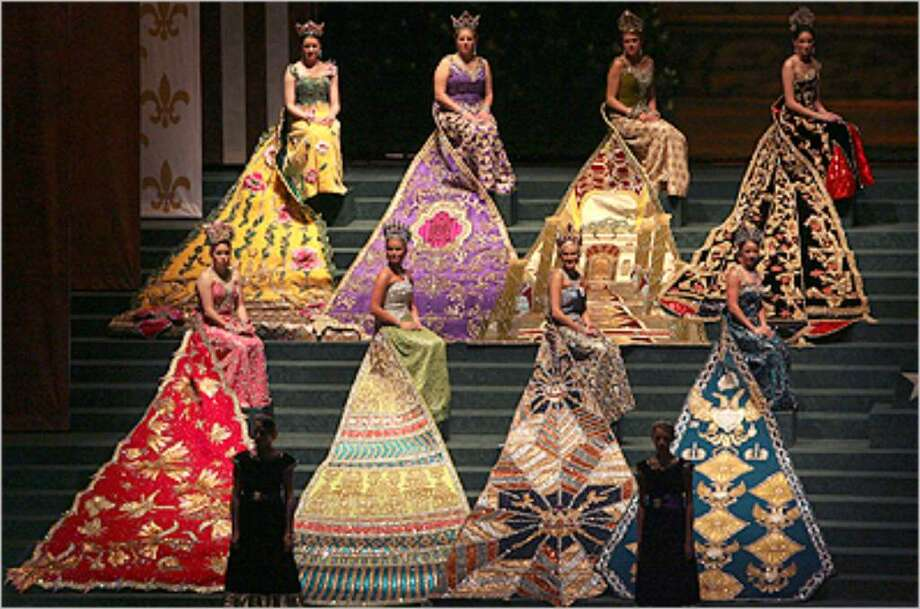 The gowns in the Court of Dazzling Adornments were eight months in the making.