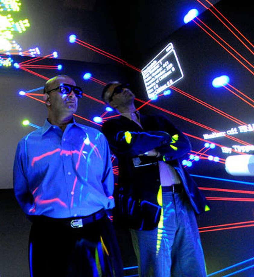 Faculty cite collaboration as one of the main advantages to having a combined university and medical center. At. UCSD, scientists from all departments can use the StarCAVE to project different models and images they are working with in a 3-D chamber.