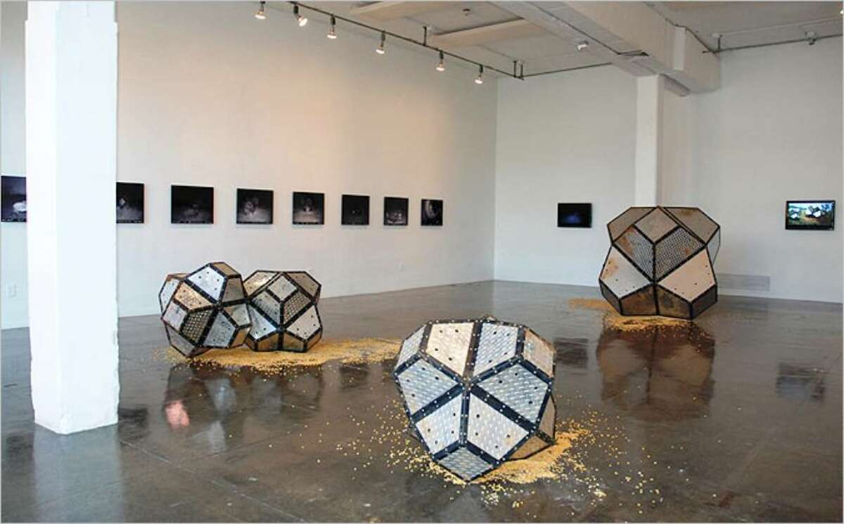 """Buster Graybill's """"Tush Hog,"""" at Artpace, offers visitors a visual and aural experience."""