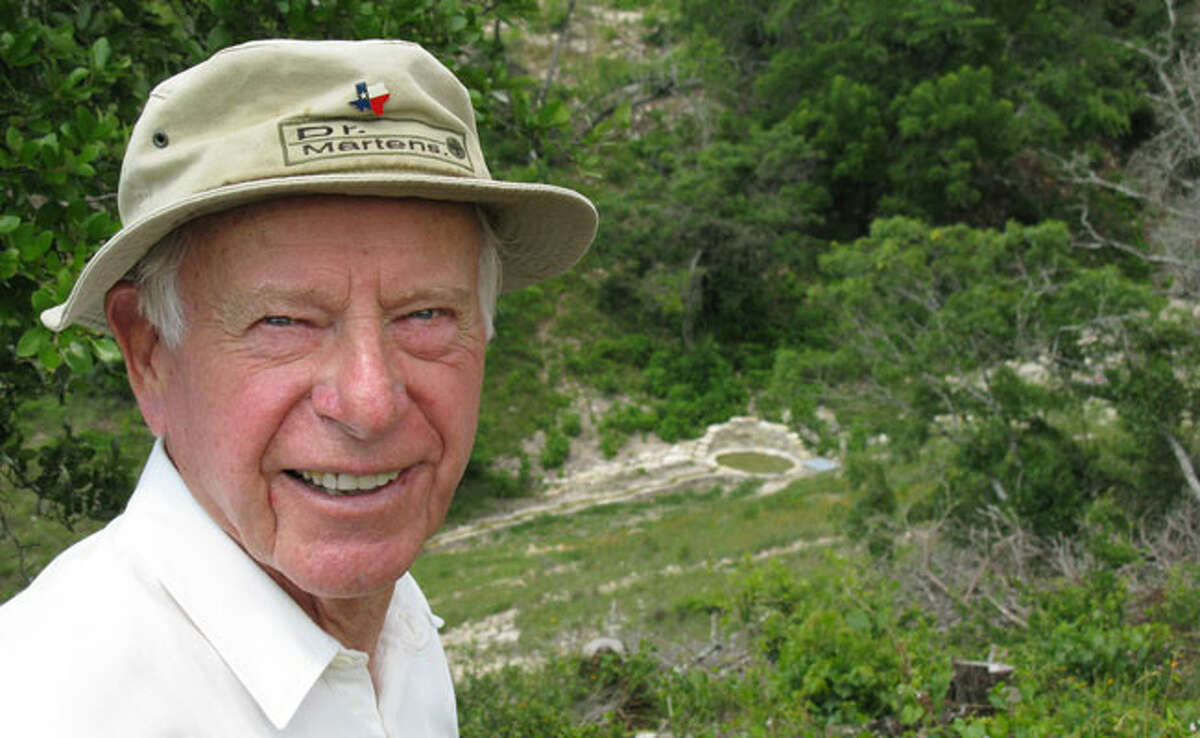 David Bamberger encourages regeneration of groundwater on his land by clearing cedar, planing native grasses and other steps.