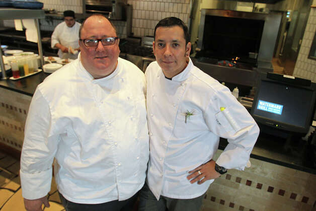 chefs scott cohen and isaac cantu at watermark grill stone 410693 san antonio express news. Black Bedroom Furniture Sets. Home Design Ideas