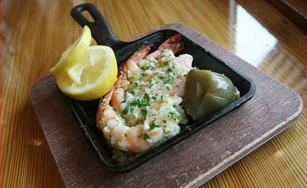 The Roasted Garlic Shrimp appetizer at Watermark Grill is a flavorful, easy dish