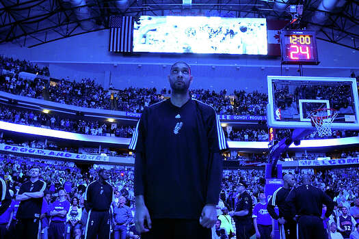 A year after missing the second round for the first time when healthy, Tim Duncan is relieved to still be playing. The Spurs took Round 1 in six games, defeating their in-state rivals the Mavericks and becoming the first seven seed to knock off a No. 2 since the first round series expanded to seven games. / © 2010 SAN ANTONIO EXPRESS-NEWS