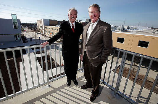 "Former Mayor Phil Hardberger and NuStar Chairman Bill Greehey were driving forces behind the development of the 37-acre Haven for Hope $100 milliom campus west of downtown San Antonio. The haven for the homeless was dedicated on April 15 and opened to men on April 26; women and families will begin arriving in May. ""It's pretty amazing that in less than three years we've gone from a vision for Haven for Hope to a fully operational campus,"" said Greehey, who's also chairman of Haven for Hope. ""It takes some people three years to build a house."" / San Antonio Express-News"