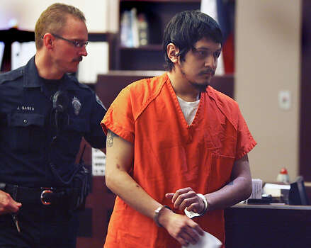Geovany Rivera is led away after being sentenced to life in prison for the murder of Amber Belkin. Rivera, 25, once faced the possibility of the death penalty for the robbery and killing that occurred Jan. 29, 2007, at a North Side video game store, where he once worked alongside Belken. Belken's body was found in the back of the EB Games store; she had been suffocated with a bag. After the slaying, authorities said Rivera fled to Mexico. Because he was captured in Mexico, prosecutors had to agree not to seek the death penalty against Rivera if they wanted him extradited back to Texas. Rivera was returned to San Antonio two years ago. / jdavenport@express-news.net