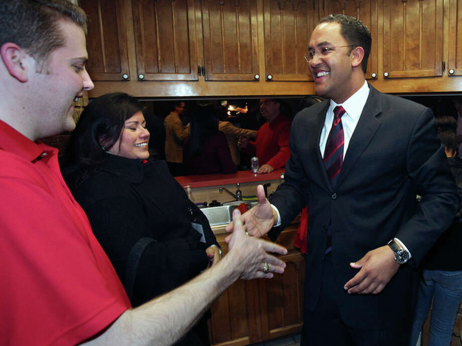 Will Hurd, Republican primary candidate for the U.S. 23rd congressional seat speaks with his supporters on election night at his home on March 2, 2010. / © 2010 San Antonio Express-News