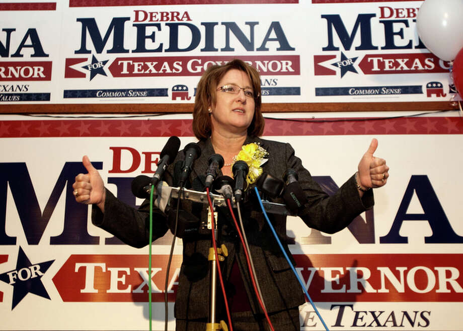Debra Medina, Republican, $80,000 raised, $52,000 cash-on-hand / AP