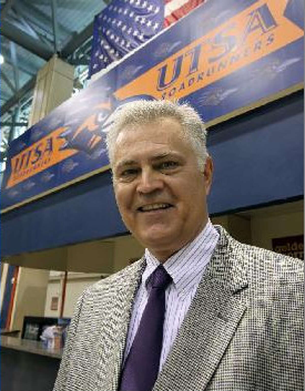 UTSA athletics marketing director Jim Goodman began with the Spurs in the early 1980s.