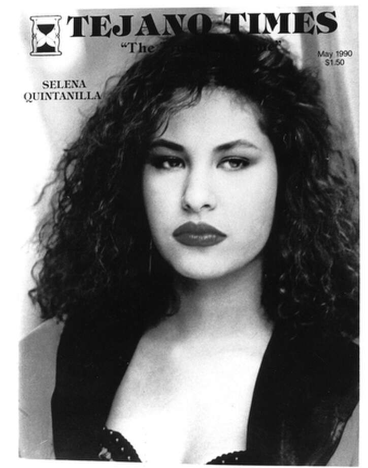A copy of Selena featured on the Tejano Times magazine cover from May 1990.