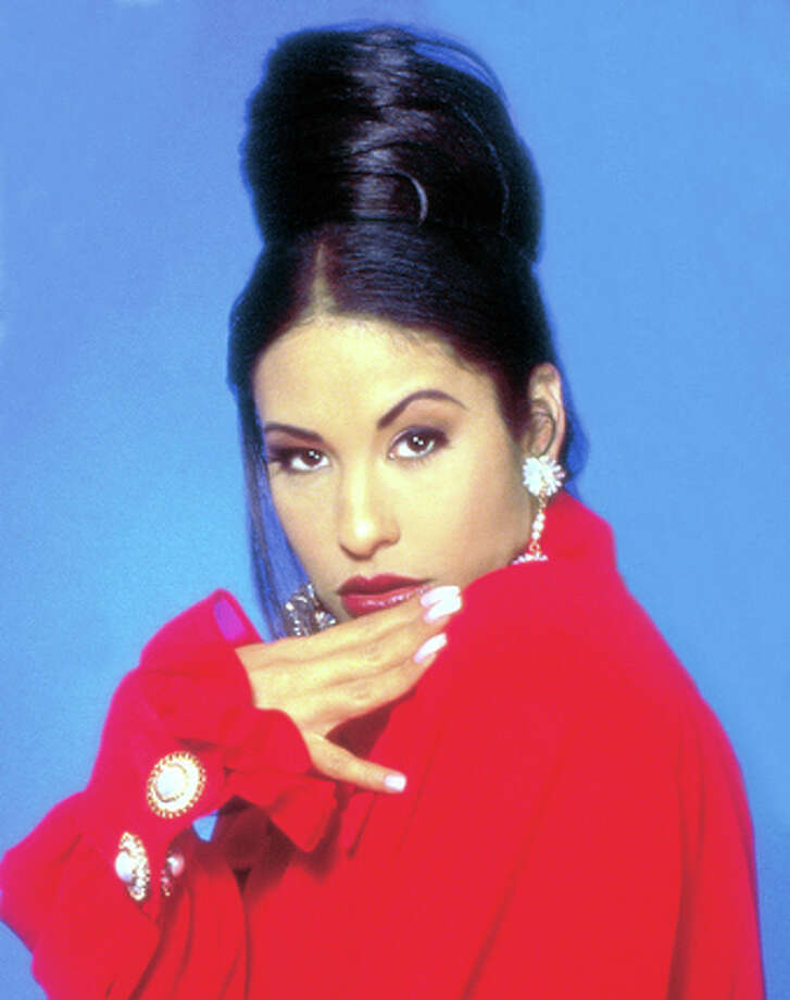 """Selena Quintanilla is seen in an archive photo that promoted  """"La Leyenda."""" / Azul Public Relations"""