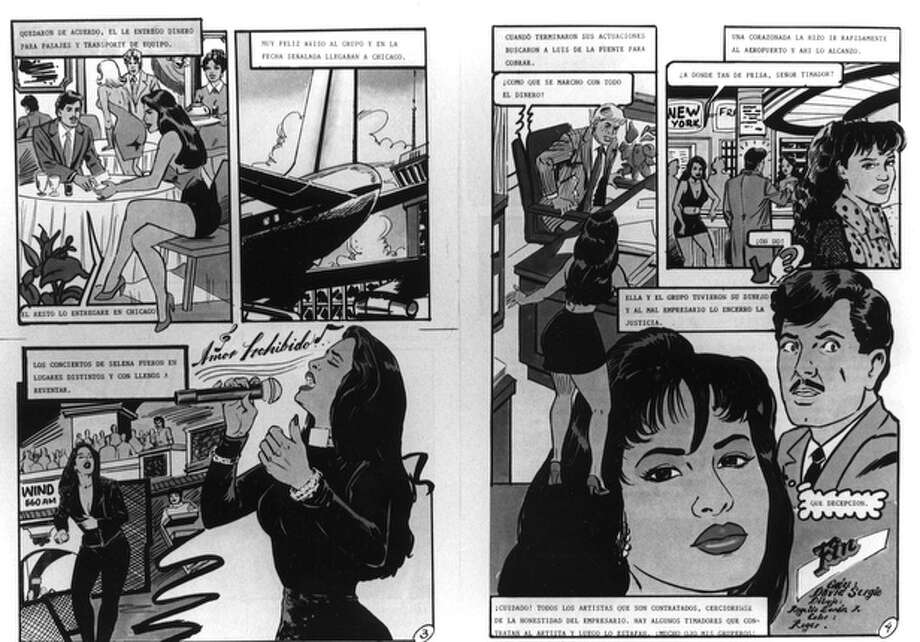 This image is of a Selena comic written in Spanish.