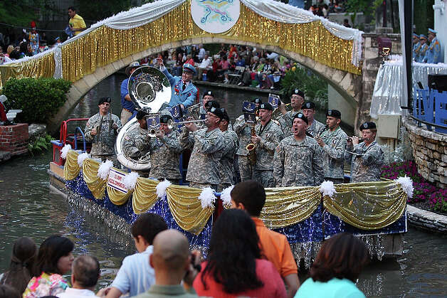 U.S Army Medical Command Band performs for the crowds gathered at the Arneson Theater.