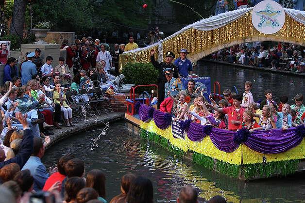 Fiesta Children & Bexar County Sheriff Amadeo Ortiz float.
