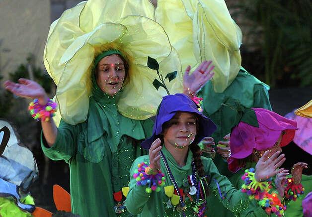 Battle of Flowers Association's Butterfly Garden float.