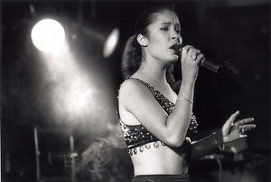 Selena performs during a dance following the Feria de las Flores contest Aug. 12, 1989, in Corpus Christi.
