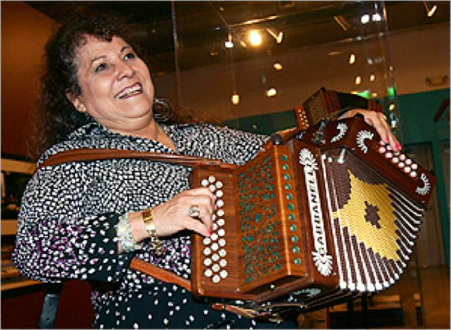 Eva Ybarra has been playing the accordion since she was 6. Though still a male-dominated genre, little by little is changing. Ybarra and her band play May 15.