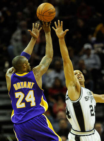 The Spurs' Richard Jefferson, a Los Angeles native, likely will get his share of trying to guard Lakers star Kobe Bryant during this afternoon's game at the Staples Center.