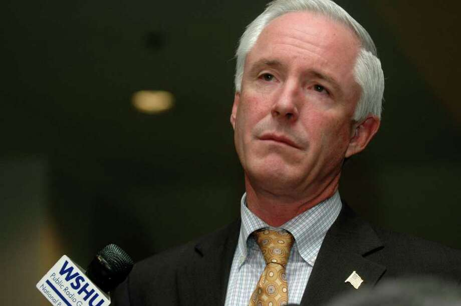 Mayor Bill Finch held press conference at City Hall Annex on Wednesday November 3, 2010, to discuss Election results in Bridgeport CT. The Mayor announced he is appointing a three person panel to investigate the running out of the machine-scored ballots at several polling stations resulting in the hand-counting of thousands of ballots. Photo: Cathy Zuraw / Connecticut Post