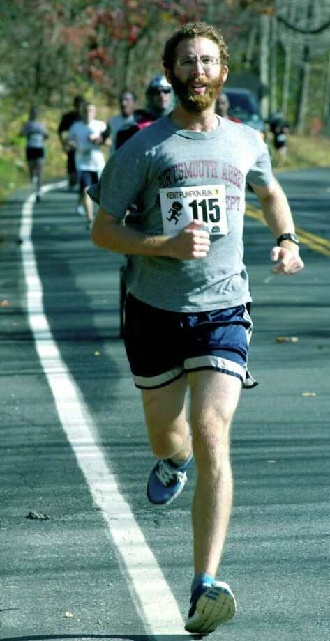 SPECTRUM/Joseph McDonough is the first Kent resident to finish with an overall 36th-place performance as a record field of more than 600 competes in the 34th annual Kent Pumpkin Run. Oct. 31, 2010 Photo: Norm Cummings / The News-Times
